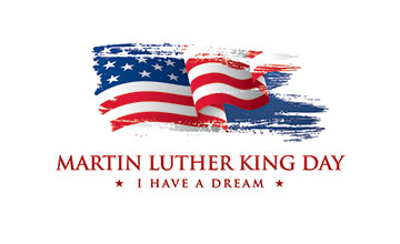 Graphic with Martin Luther King Day - I have a dream