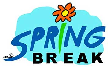 Graphich with Spring Break Text and a Flower