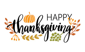 Graphic with Happy Thanksgiving Text