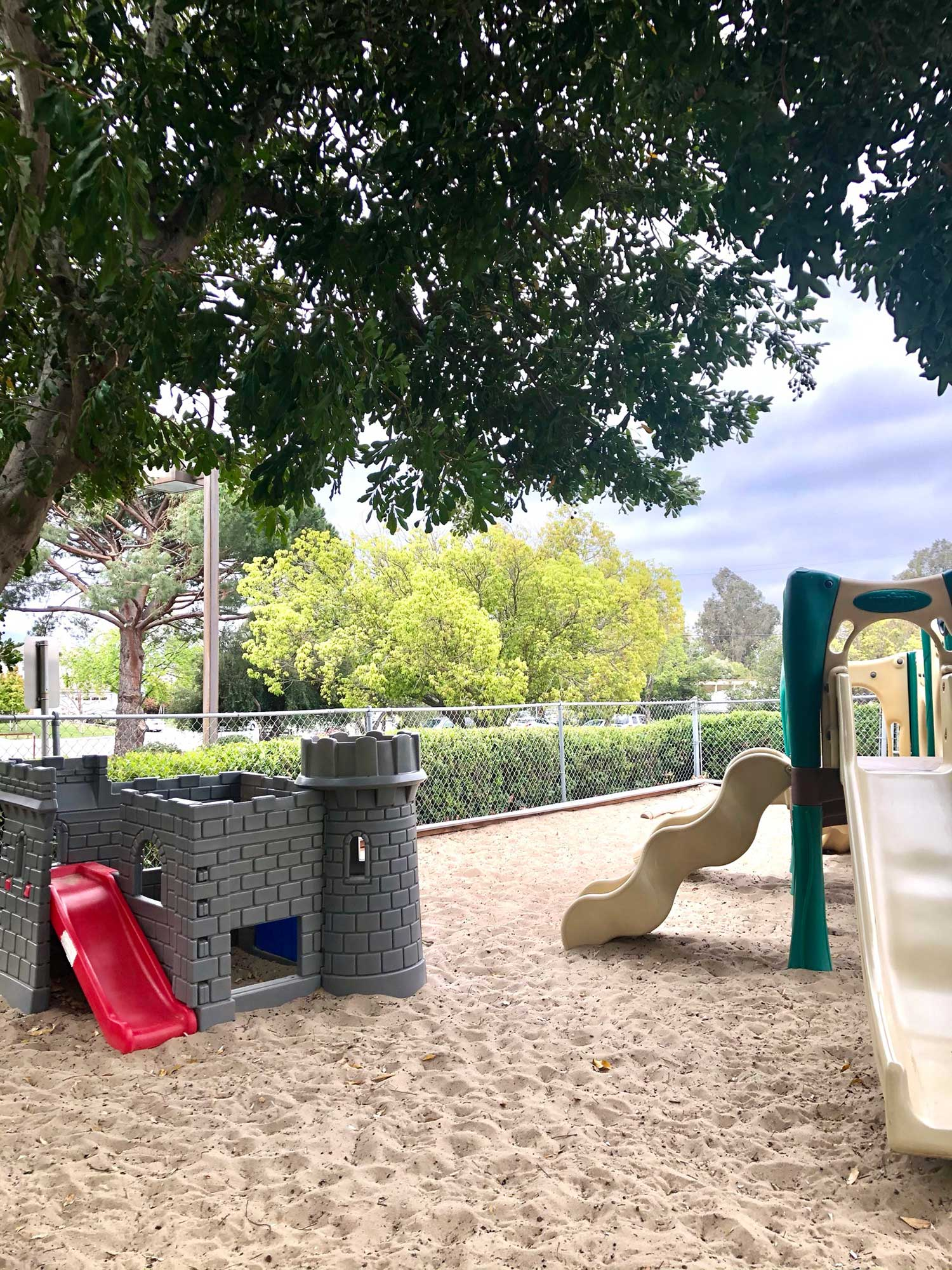 Play Castle and Play Structure in Sand Pit